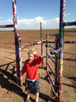 Entering Cadillac Ranch